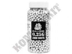 2000 x 6mm x 25g White Polished Airsoft BB Pellets in Tub